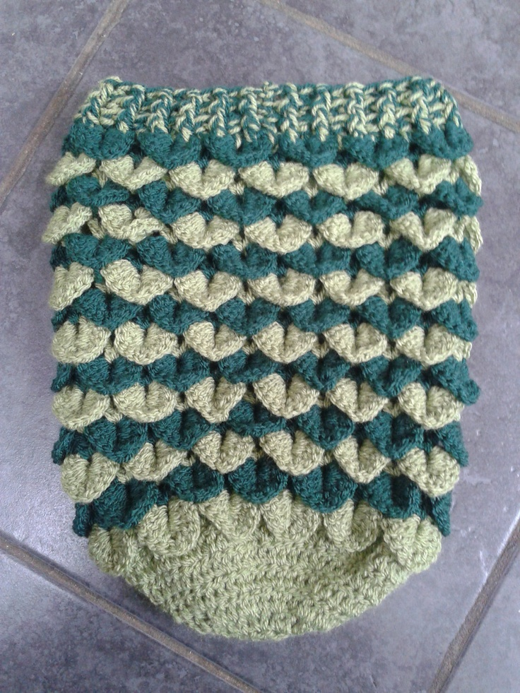 Free Crochet Patterns Using The Crocodile Stitch : PDF Crochet PATTERN Crocodile Stitch Newborn Baby Cocoon