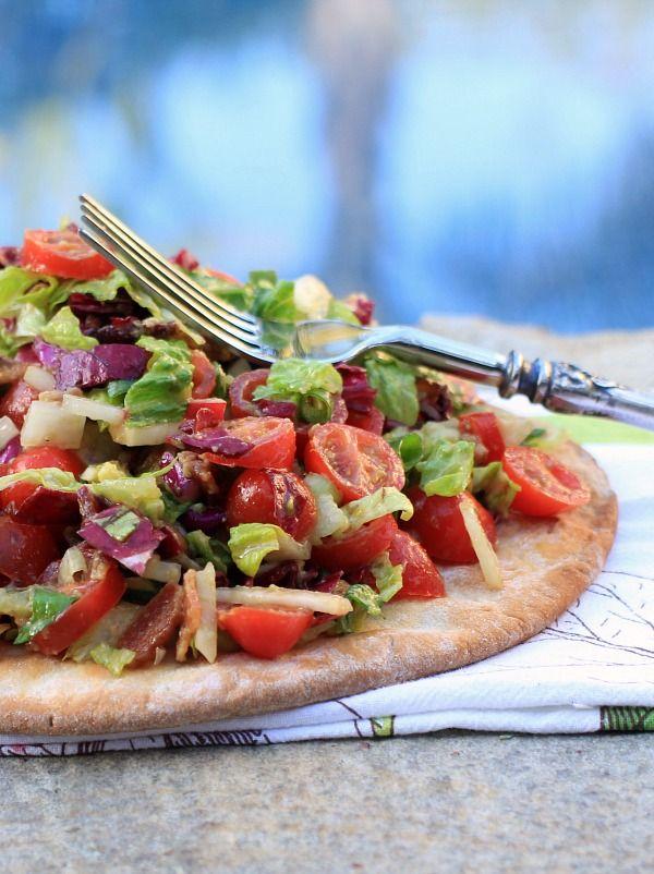 Farmers Market BLT & Avocado Pizza Salad   food and recipes   Pintere ...