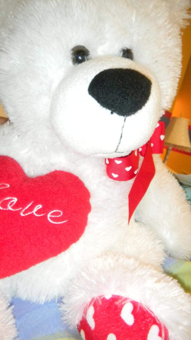 valentine's day stuffed dog