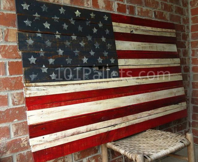 Pallet american flag tutorial crafts i love pinterest - American flag pallet art ...