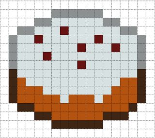 Minecraft Cake perler bead pattern   Perler Bead 8-bit art ...