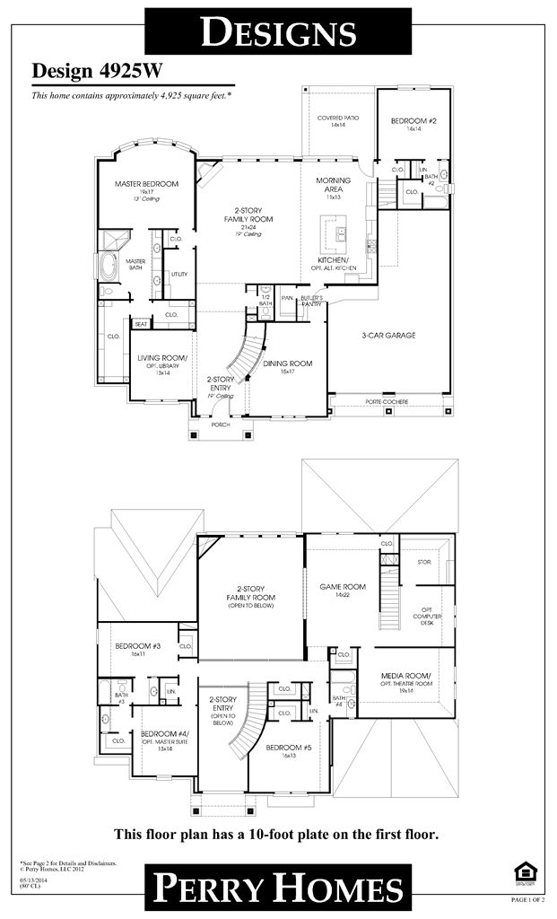Perry Homes Floor Plan For 4925w Home Pinterest