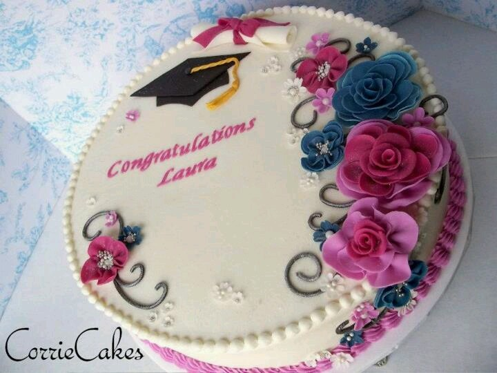 Round Graduation Cake Images : Graduation Cake Decorated Round(ish) cakes #2 Pinterest