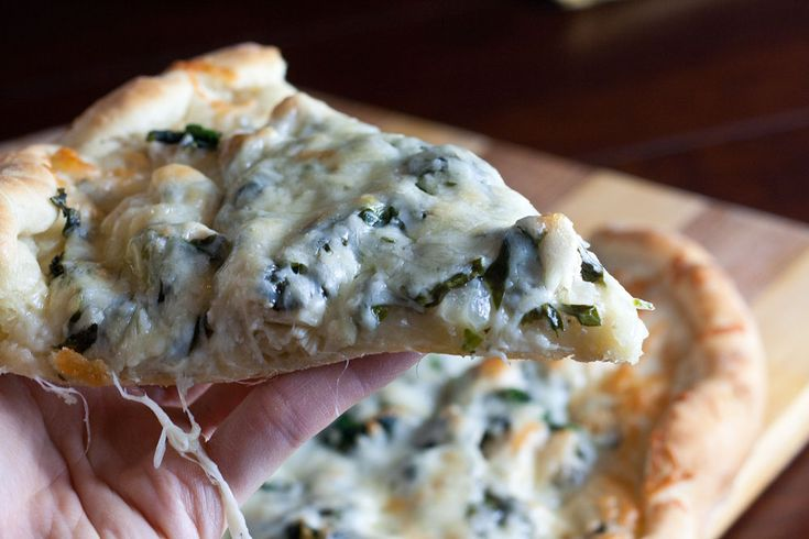 ... pizza that's loaded with chicken, fresh basil and fresh spinach