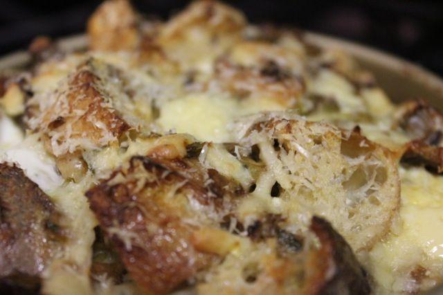 Mushroom & Leek Bread Pudding - Food52