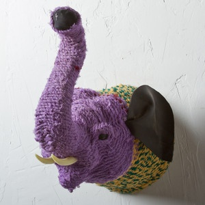 Rope Wrapped Elephant Mount