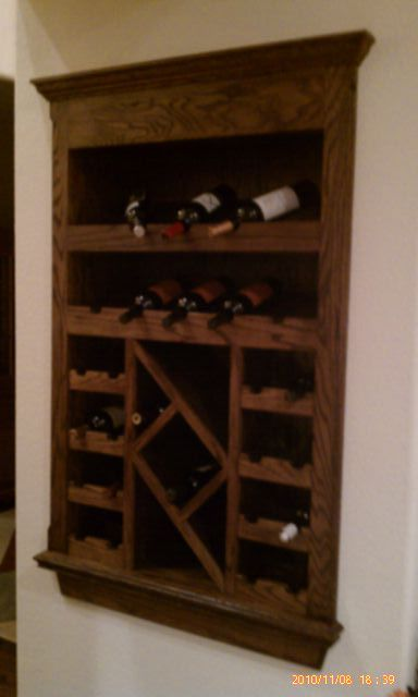Nice built-in wine rack- i like the shape on the inside piece. not the ...