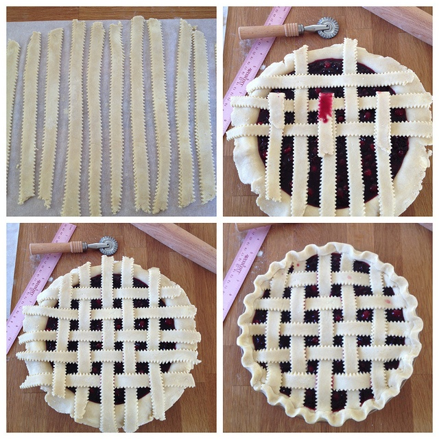 Lattice Top Pie Crust by Tracey's Culinary Adventures