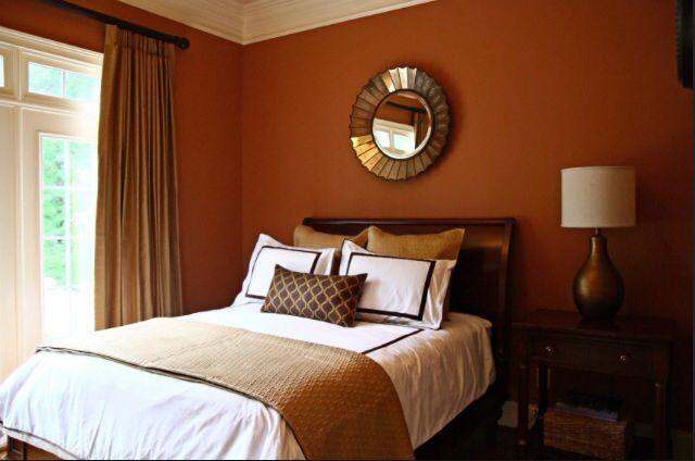 burnt orange walls bedroom decorating and design
