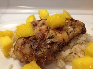 Balsamic-Mango Marinated Grilled Chicken | I ♥ Food | Pinterest