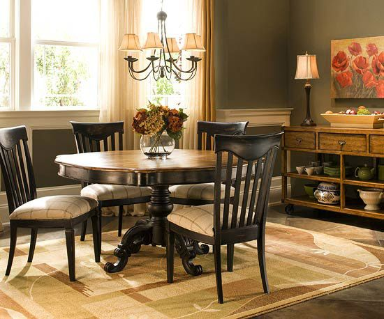 This Is The Dining Room I Want Just Need A Round Table For The Home Pin