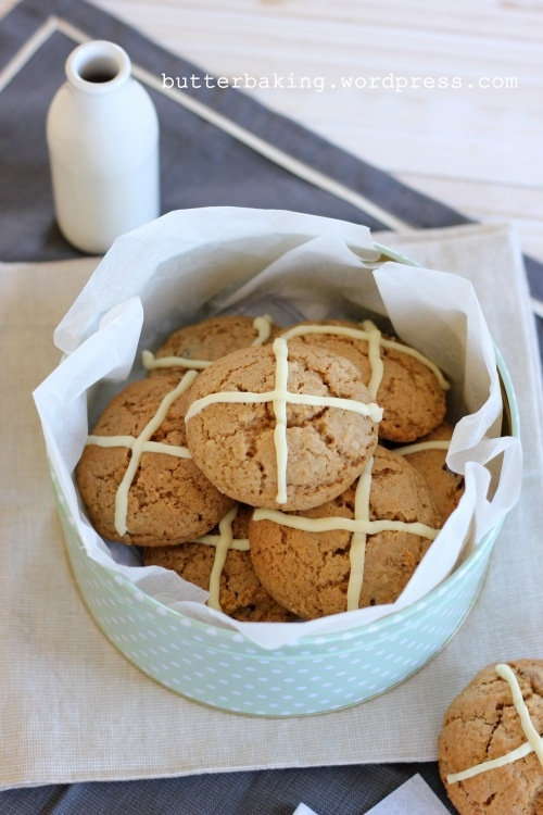 Hot cross cookies - like hot cross buns, in a cookie!