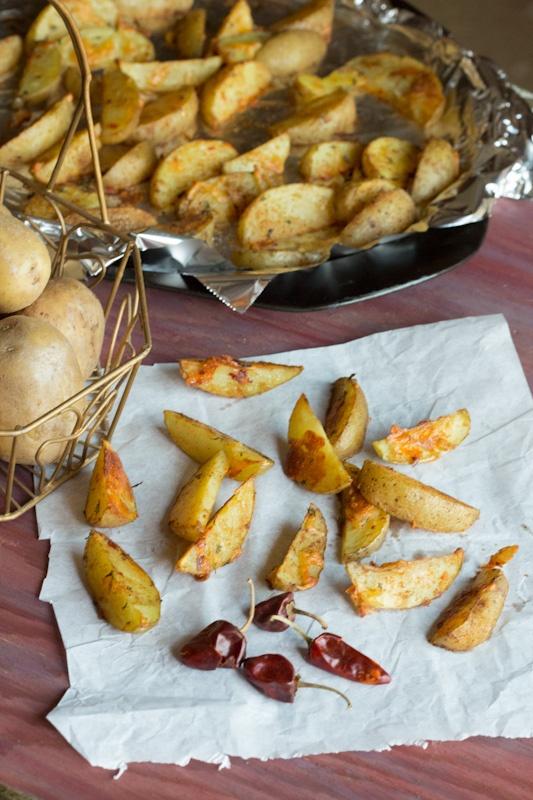 Baked Spicy Cajun Potato Wedges | FlavzCorner | Pinterest