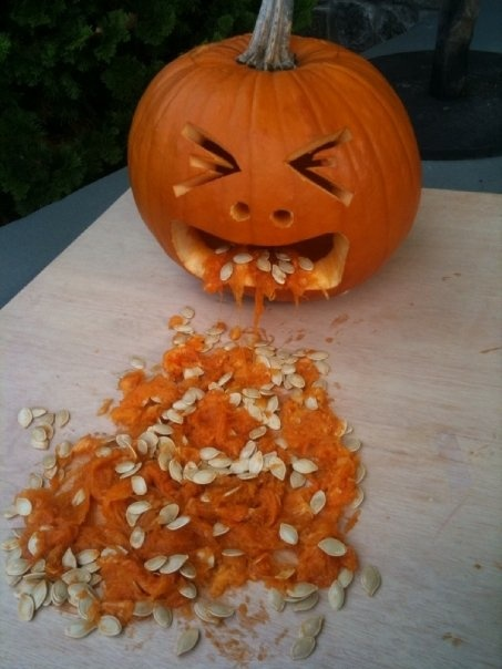 vomit pumpkin from halloween 2009 halloween pinterest