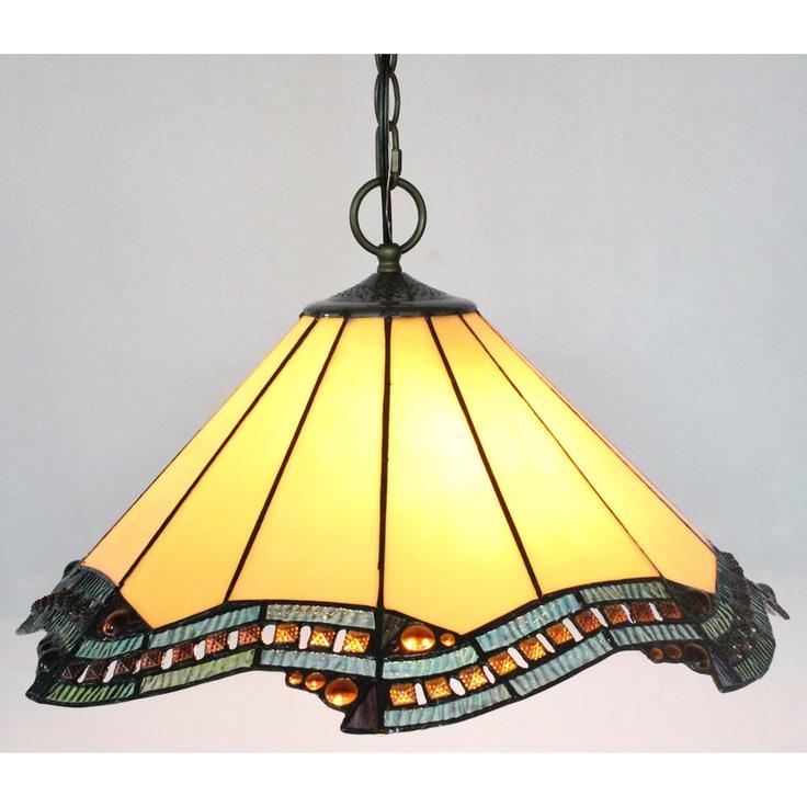 amora lighting tiffany style 39 citrine 39 hanging lamp. Black Bedroom Furniture Sets. Home Design Ideas