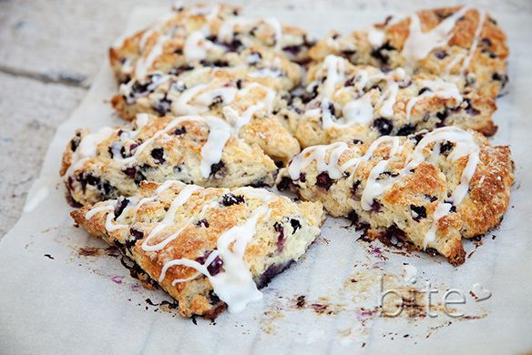 wild blueberry scones with lemon glaze | Favorite Recipes | Pinterest