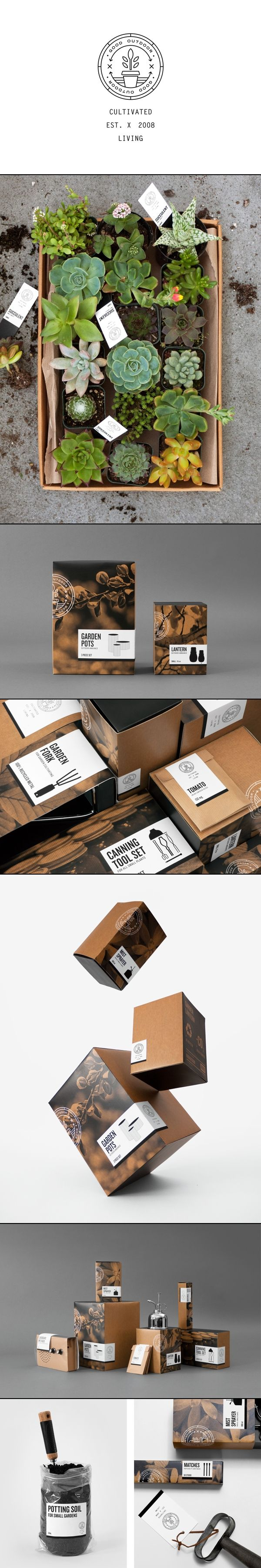 How about this one Julie? Good Outdoor | The Good Store | Herrera, Carriedo, Giboin, Huang. Perfect #garden #branding #packaging PD