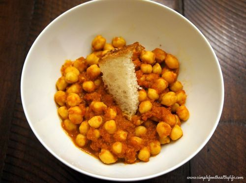 Sauteed Chickpeas in Spicy Tomato Puree | Eat Well - Entrees | Pinter ...