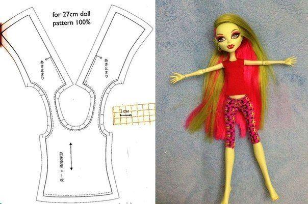 Как сшить для куклы топ 68