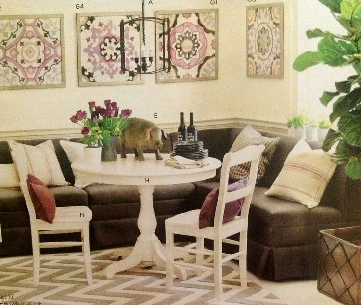 Love This Idea Of Combining A Couch With A Dining Room Set