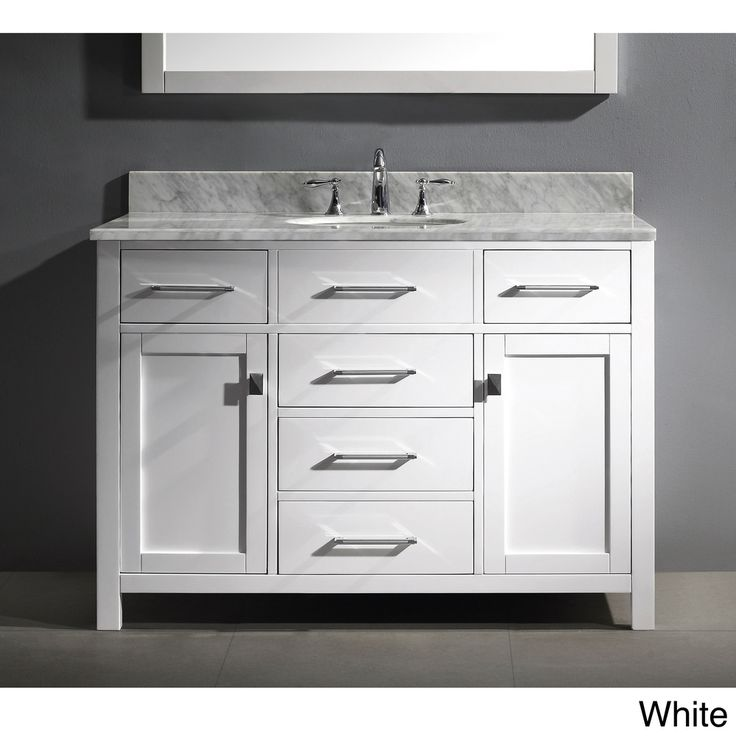 Virtu usa caroline 48 inch single sink bathroom vanity set 48 inch bathroom vanity