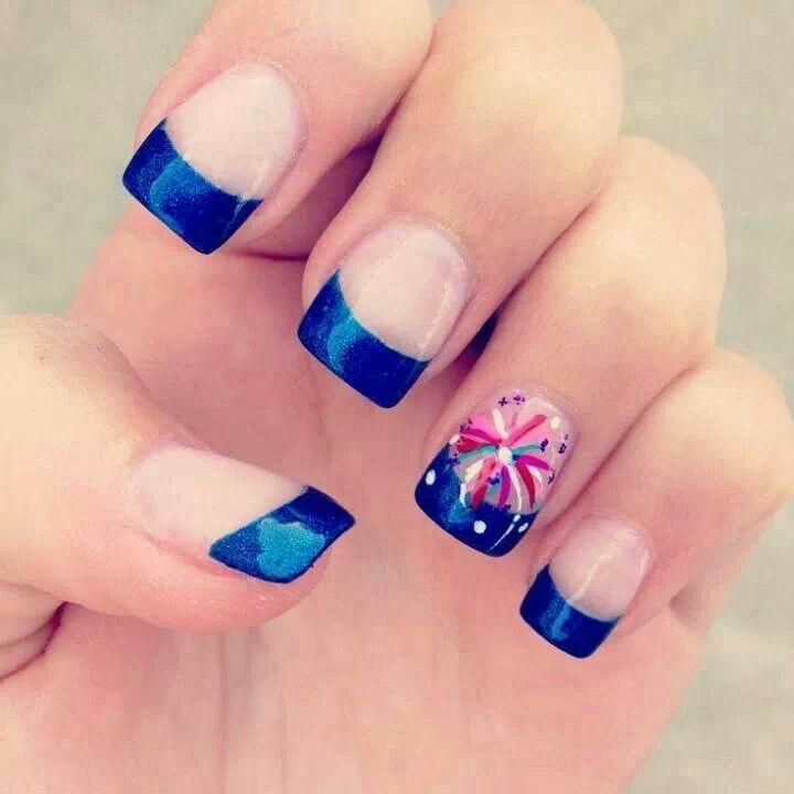 Blue Gel Tips Nails | Nails | Pinterest
