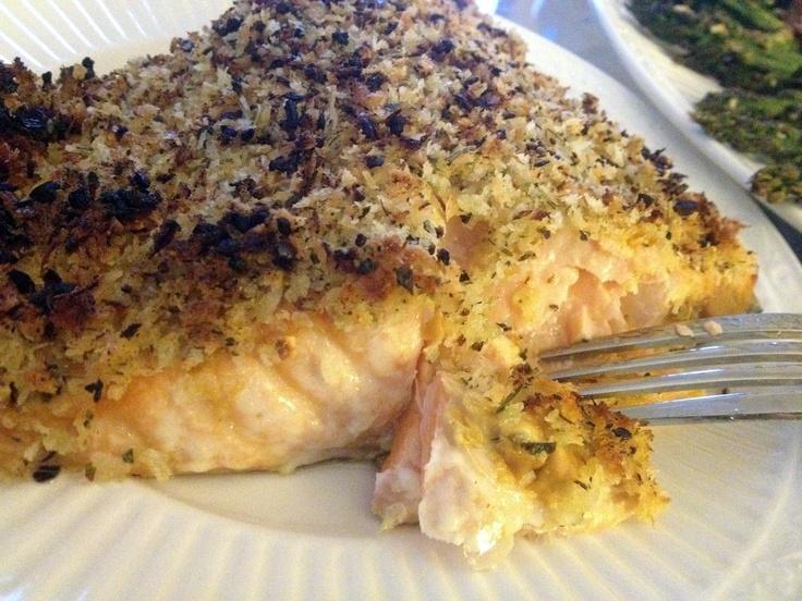 Dijon & Herb Panko-Crusted Salmon | Recipes | Pinterest