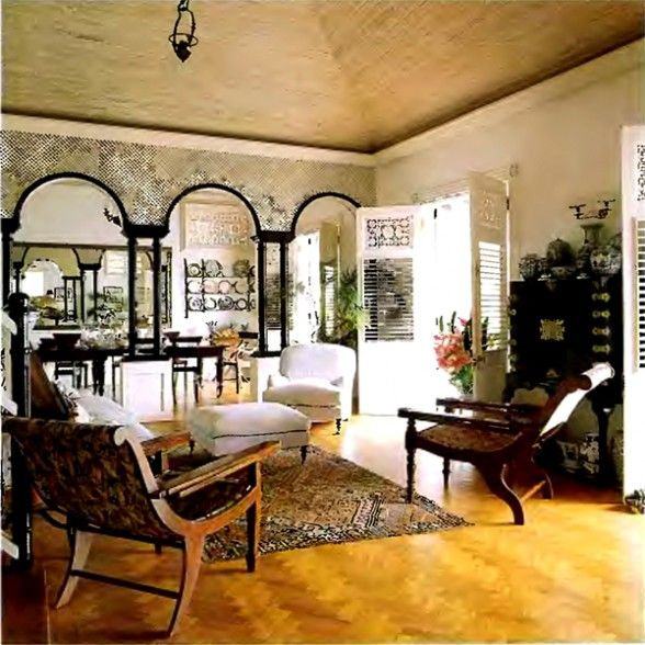 Colonial caribbean style home design pinterest for Caribbean living room ideas