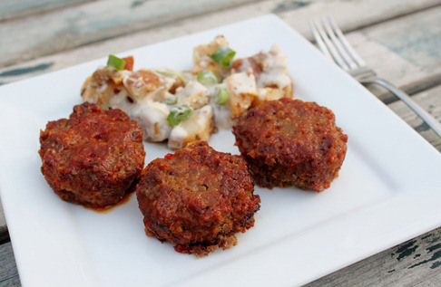 Savory meat loaf bites | Dairy Free | Pinterest