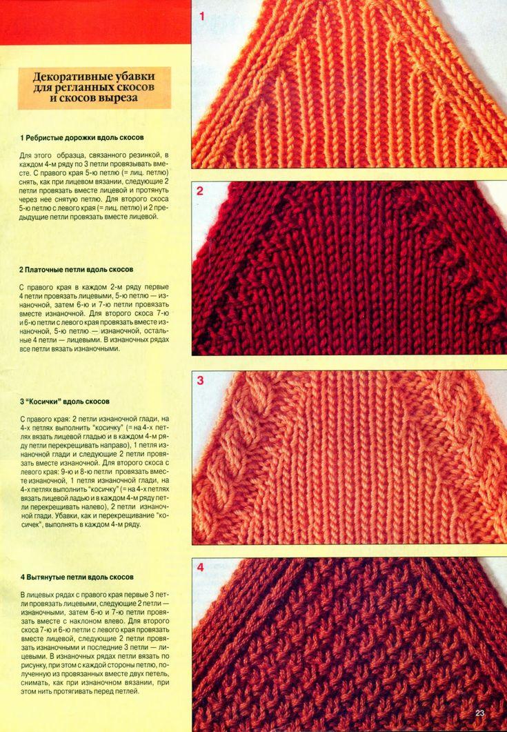 Как убавлять петли при вязании спицами для реглана