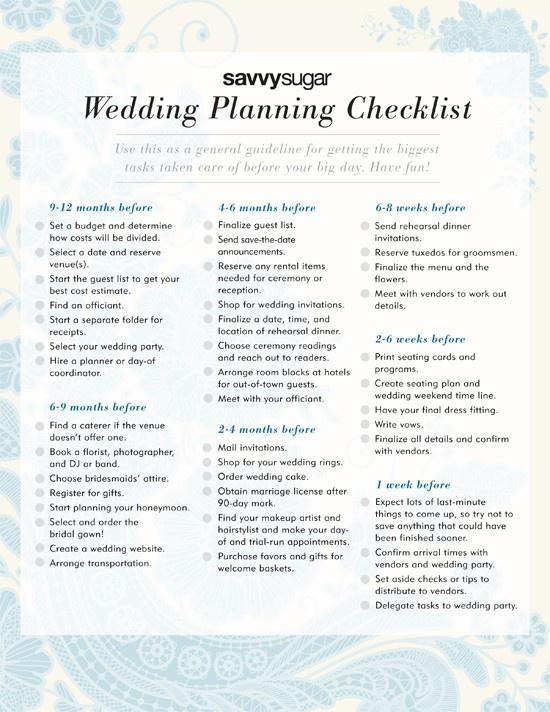 wedding planning checklist real simple source 12 best wedding