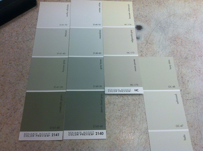 Benjamin Moore paint chips | Bathroom Redo/Paint Colors | Pinter