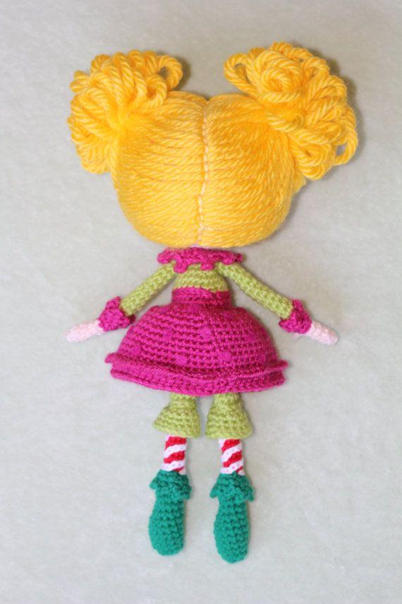 PATTERN: Lalaloopsy Holly Sleighbells Crochet Amigurumi Doll