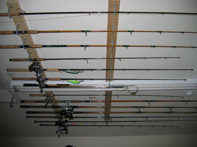 Fishing rod storage projects for john pinterest for How to store fishing rods
