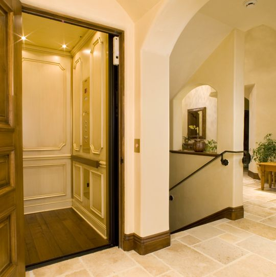 Elevator interior lift lobby pinterest Home elevator kits