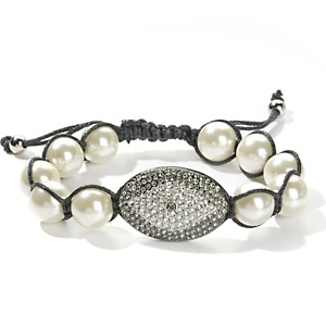 "Joan Boyce Crystal ""Angel Eye"" Cord Bracelet at HSN.com."
