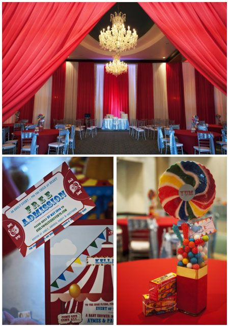 Circus theme baby shower decorations it was a 3 ring circus pinterest - Carnival themed baby shower ideas ...