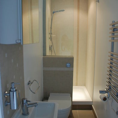space saving ensuite bathroom creating a master bedroom