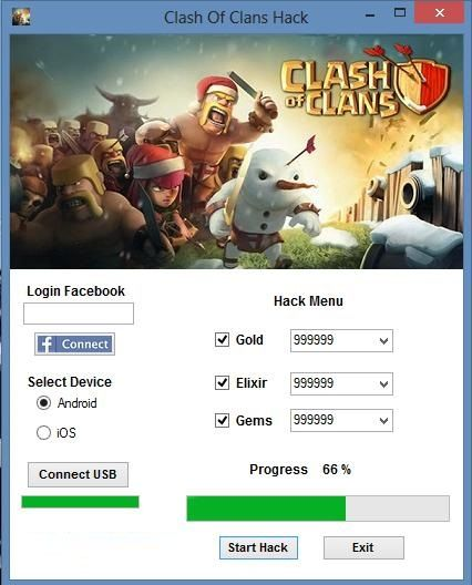 clash of clans hack facebook 2014