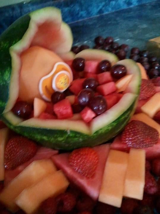 baby shower fruit basket baby frut basket pinterest