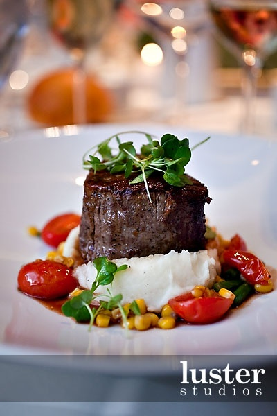 classic steak amp potatoes on corn amp tomato salad photo by craig ...