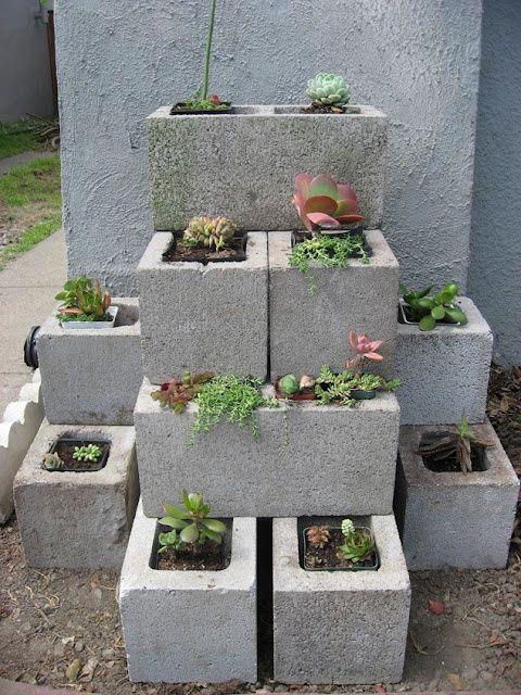 Cinder Block Garden Wall Home Style Pinterest