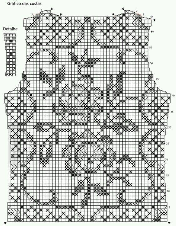 Филейное вязание модели схемы