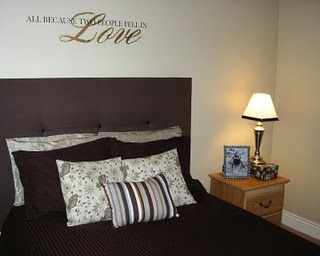Cheap and easy headboard diy pinterest projects for Easy diy headboard cheap