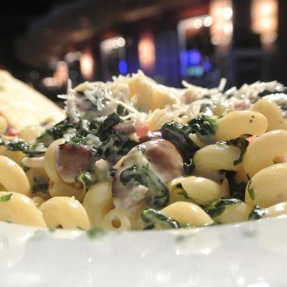 ... artichoke, fresh spinach, three-cheese blend, basil, tomato, mushrooms