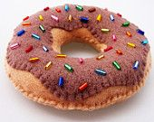 Yummy Chocolate Diet Donut - Felt Magnet