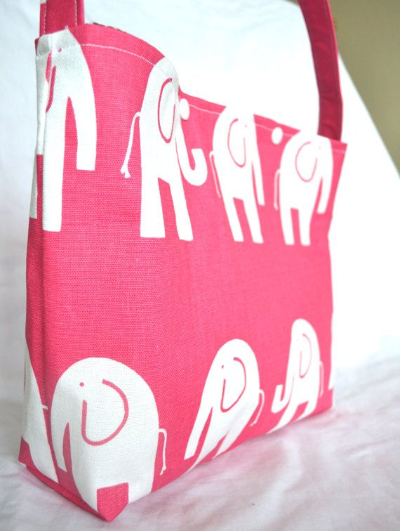 Girls or Tween Bag or Purse Modern Pink Elephant by candyargyle, $18 ...