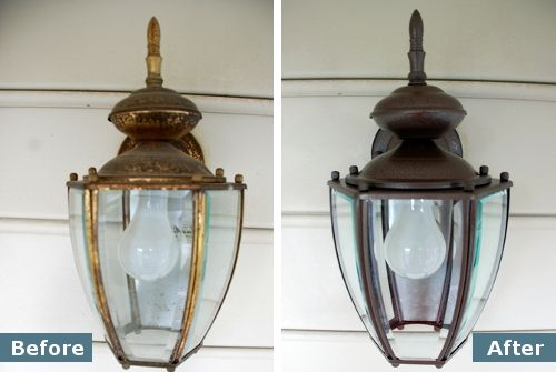 rylon rust protector you can spray paint an exterior light fixture. Black Bedroom Furniture Sets. Home Design Ideas