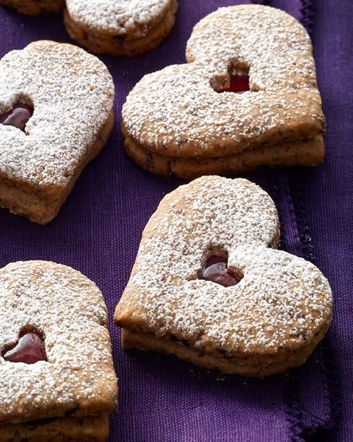 My Happy Dish: Linzer Heart Cookies from Kathleen King of Tate's Bake ...