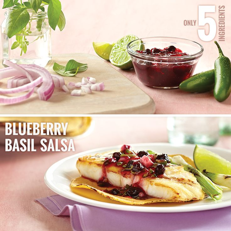 Try a fruitful twist on salsa: Simply combine Smucker's® Blueberry ...